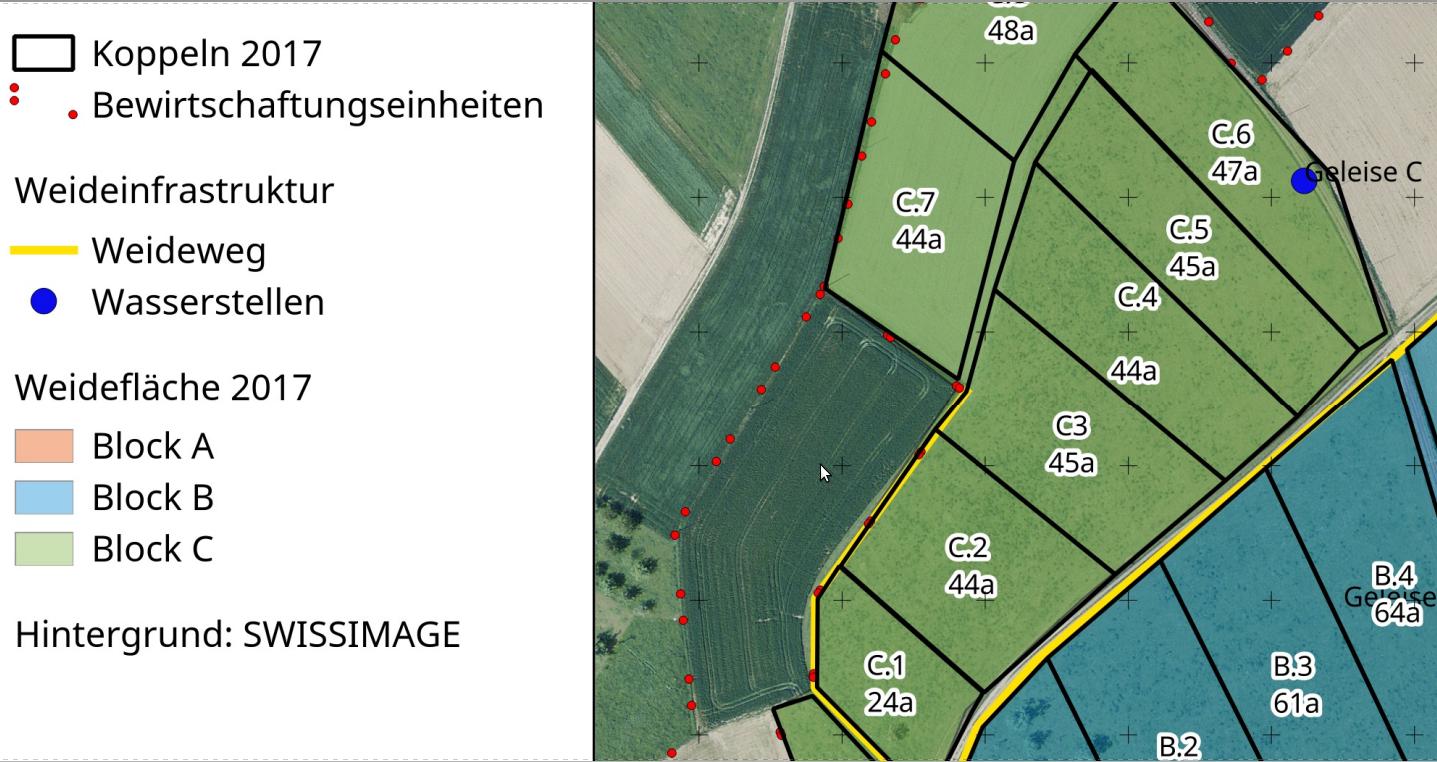 Weideplan zeichnen | Materialien für den Futterbau
